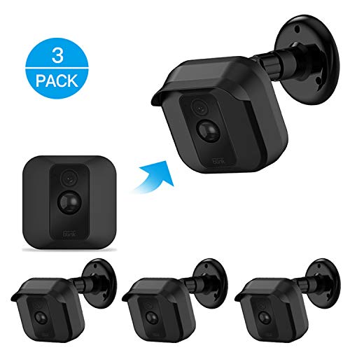 Product Cover Blink XT XT2 Camera Wall Mount Bracket ,Weather Proof 360 Degree Protective Adjustable Indoor/Outdoor Mount and Cover for Blink XT XT2 Home Security Camera Anti-Sun Glare UV Protection Black(3 Pack)